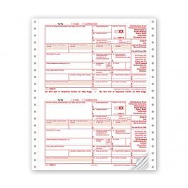 2020 Continuous 1099-R Income Sets, Carbonless, 4-Part