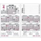 "Desk Calendar Refill, Jan-Dec,4-1/2"" x 7-3/8"""