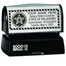 Pre-Inked Rectangular Notary Rubber Stamp