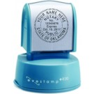 """Pre-Inked 1"""" Round Notary Rubber Stamp"""